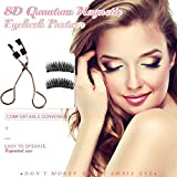 8D Quantum Magnetic Eyelash Partner for Apply Magnetic Eyelashes in Seconds, Multifunctional Magnetic Eyelash Curler Set, Portable Eyelash Curler to Apply, Remove & Repair Lashes Quickly (A)