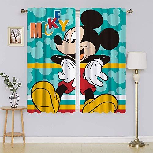 lacencn Mickey-Mouse - Cortina decorativa para salón, 63 x 45 cm
