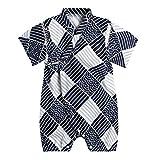 PAUBOLI Baby Japanese Kimono Robe Cotton Infant Comfy Loose Pajamas (9-18 Months, 26)
