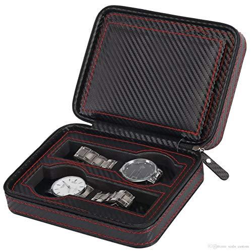 MaestroRelojero Case Porta 4 Uhren Kohlefaser PU