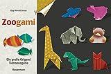 Zoogami-Set: Die große Origami-Tiermenagerie - Buch und 64 Blatt bedrucktes Faltpapier