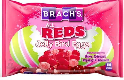 Brach's All REDS Jelly Bird Eggs Cherry Strawberry Raspberry & Watermelon Jelly Beans ONE 11 Ounce Bag