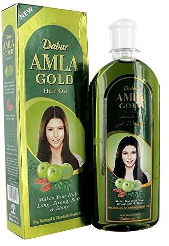Amla Gold Dabur - Aceite para cabello largo suave y fuerte (200...