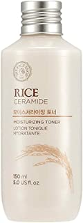 The Face Shop Rice & Ceramide Moisturizing Facetoner Enriched With Rice Extracts To Brighten The Skin Suits All Skin Types, 150 ml