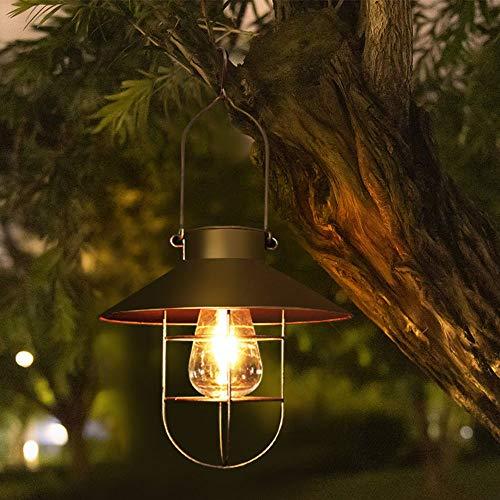 Farol solar para exterior, vintage, de metal, para jardín, iluminación de camino, decoración