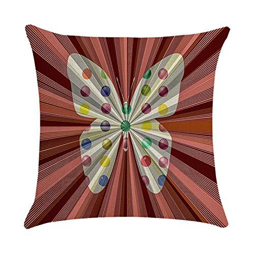 Funda de almohada de Pascua, funda de almohada de lino, fundas de cojín cuadradas, fundas de almohada personalizadas para sofá, decoración del hogar, fiesta, 45 cm x 45 cm