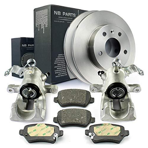 Bremsscheiben + Bremsbeläge + 2x Bremssattel hinten NB PARTS GERMANY 10045550