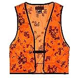 Orange Aglow Signature Mesh Blaze Orange Camo Hunting Vest (XL)