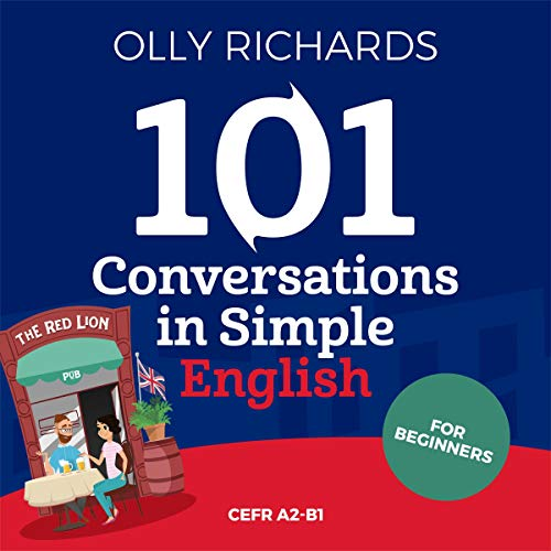 Diseño de la portada del título 101 Conversations in Simple English: Short Natural Dialogues to Boost Your Confidence & Improve Your Spoken English