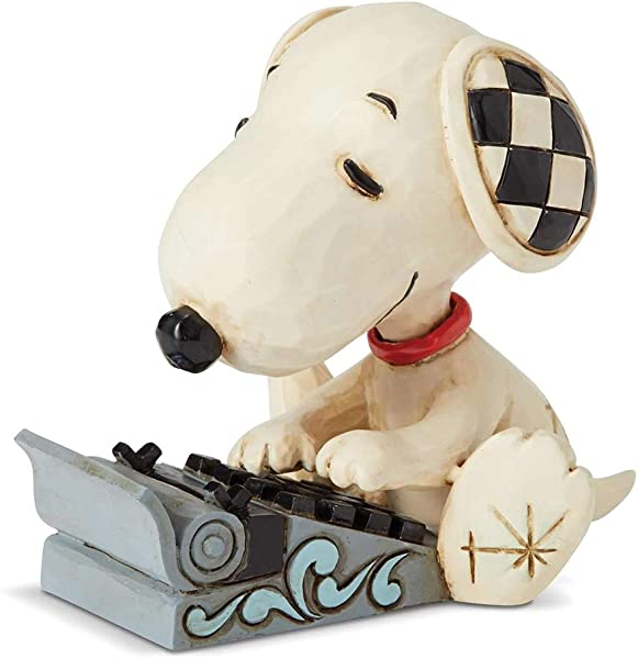 Enesco Peanuts By Jim Shore Snoopy Typing Mini Figurine