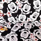 Jersey-Stoff HEM74 Micky Maus-Motiv, Halbmeterware 50 x 150