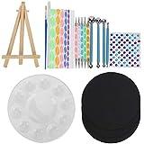 Mandala Dot Tool Set Mandala Kit de pintura Plantilla Pintura Lienzo Rock Dibujo Bandeja de pintura Suministros profesionales