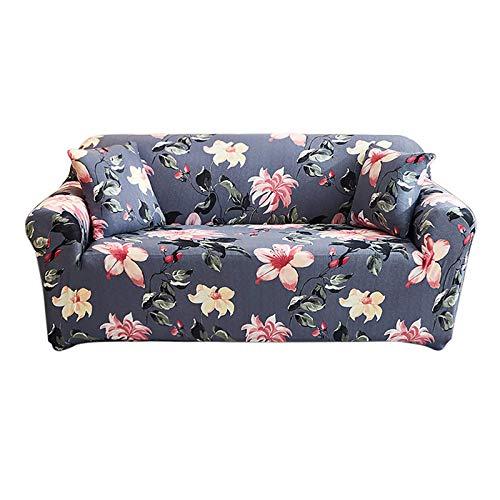 FEIGER Funda de sofá elástica Estampada de 1 Pieza, Antideslizante, Suave, Suave, para sofá, Lavable, Protector de Muebles, Funda de sofá con 1 Funda de Almohada para