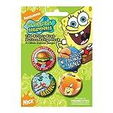 Spongebob Juego de botones de esponja Krusty Krab (en 3,8 cm)
