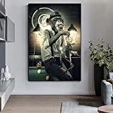 Modern Wall Art Decor Monkey Canvas Painting Cuadros Wall Art Funny Animal Posters Prints Pictures for Living Room Decoration 20x30 CM (sin marco)