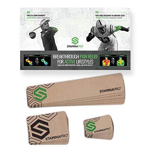 STAMINAPRO Active Recovery Patches for Muscle Soreness, Strain, Muscle Fatigue, and Muscle Tightness - 24 Patches (24 Patches)