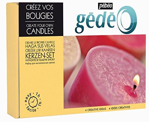 Pébéo - Gédéo Coffret Créez Vos Bougies - Kit Pour Fabriquer ses Bougies - Cire Bougie à Fondre, Mèches Bougies Armées, Colorant Bougie, Parfum Bougie