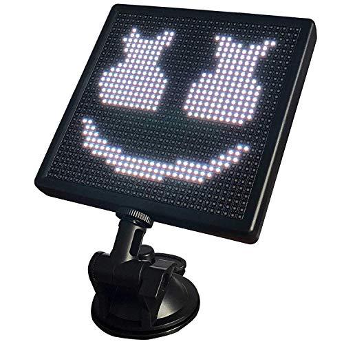 Moligh doll 12V Animation Auto LED Bildschirm, Kontrollierte Auto LED Bildschirm Einstellbare UnterstüTzung App für IOS Android