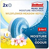 UniBond AERO 360° Moisture Absorber Wildflower Meadow Refill Tab, Aromatherapy, Ultra-Absorbent and Odour-Neutralising, for AERO 360° Dehumidifier, Condensation Absorbers, Twin Pack (2 x 450g)