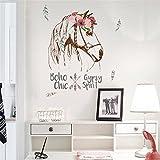 Creativee Fleurs de Cheval Wall Stickers Wallpapers pour la décoration de la Chambre Décoration Art Mural (Fleurs de Cheval)
