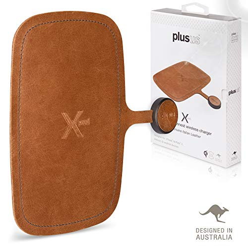 Xpad Wireless Charging Pad – Tuscan Genuine Leather - World's thinnest & first ever flexible pad Qi Fast Charger for iPhone 8-11 Pro Max/XR/XS