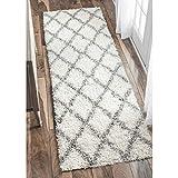 nuLOOM Tess Cozy Soft & Plush Modern Runner Rug, 2' 8' x 8', White