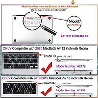 Guxiaobao MacBook Air 13インチケース,ラップトップハードケースケースはMacBook Air 13インチの新しい網膜とのみ互換性があります:A2337 M1/A2179/A1932(2018-2020リリース),花 A 22