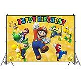 Fondo de Tela Super Mario Bros HANEL-Mario Tapiz Sala de Estar Dormitorio hogar Decorativo Arte de la Pared Cartel para decoración de fiesta de cumpleaños para niños y bebés