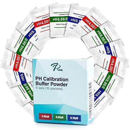 15 Pack PH Calibration Buffer Solution Powder Set, for Precise pH Meter Calibration, Make 250 ml of Each 4.00pH, 6.86pH, and 9.18pH to calibrate Your PH Tester