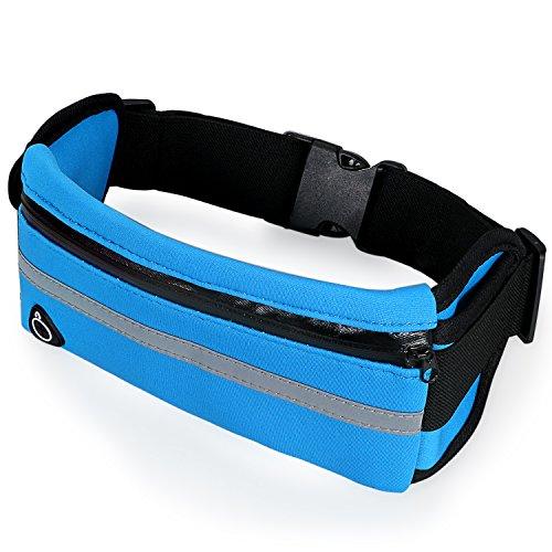 aroncent Sport-Gürteltasche für Laufen, für Smartphone, Wasserdicht super-elastisch, Mehrzweck, Blau