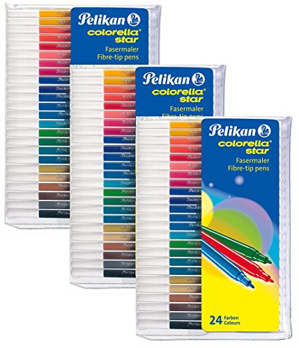 Pelikan Fasermaler Colorella Star, 3 Set, 24-farbig (Fasermaler Colorella Star, 24 Farben | 3 Set)