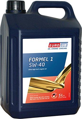 EUROLUB 216005 FORMEL SAE 1 SAE 5W-40 Motoröl, 5 Liter