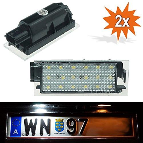 Do. LED p01rn06 LED éclairage de plaque minéralogique Applique Lampe éclairage sans plaque d'immatriculation Plaque d'immatriculation Plaque d'immatriculation