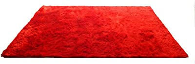 Creative Furniture Rug, 5-1/2' by 7-1/2', Red