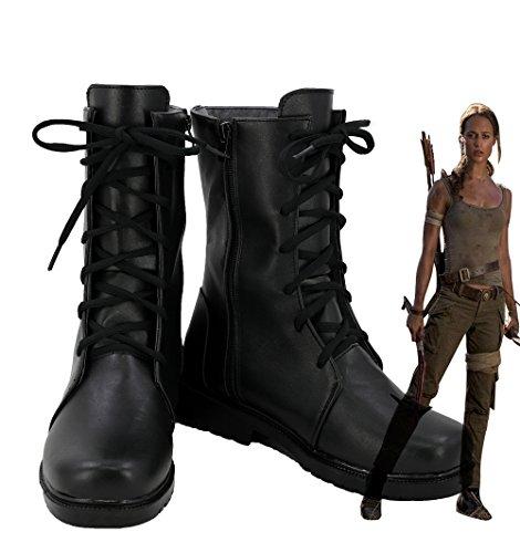 Telacos Tomb Raider Lara Croft Cosplay Shoes Boots Custom Made
