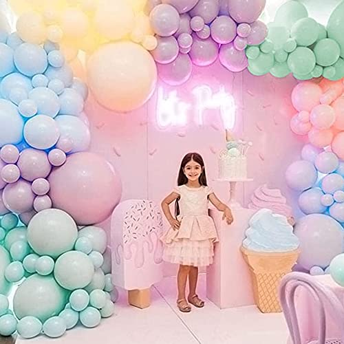 MMTX Kit Guirnalda Globos, 112 Piezas Guirnalda de Arco de Látex Globos, Globos de Fiesta cumpleaños en Colores Pastel para Decoración de Boda Cumpleaños Fiesta