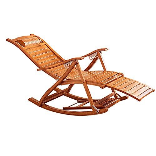 Tumbonas MAZHONG Vintage Sillón/bambú Silla Plegable Silla balcón Ocio Siesta Silla