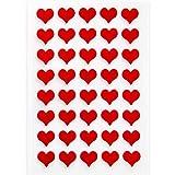 Logbuch-Verlag 40 kleine rote Herzen aus Filz Mini-Herzen Herz-Aufkleber Sticker selbstklebend basteln verzieren Tisch-Deko Hochzeitsdeko Geburtstag