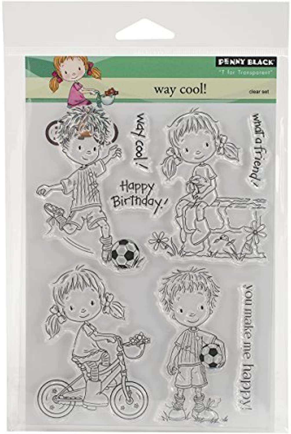 Penny Black Way Cool Clear Stamps Sheet, 5 x 6.5 by Penny Black