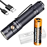 Fenix E35 v3.0 3000 Lumen EDC Flashlight with 5000mAh USB-C Rechargeable Battery and LumenTac Battery Case