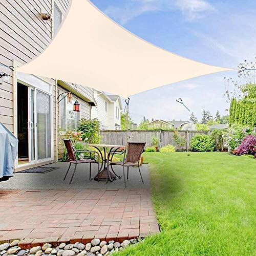 LanXin Sun Sail Shade Toldo Toldo for Patio al Aire Libre Jardín 5mx5m Square en Crema, Nombre de Color: Terracota (Tamaño Personalizable) (Color : Cream)