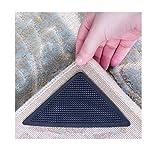 Agarres para alfombra reutilizables, 16 unidades, con tiras adhesivas