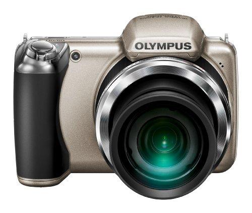 Olympus SP-810UZ Digitalkamera (14 Megapixel, 36-Fach Opt. Zoom, 7,6 cm (3 Zoll) Bildschirm, bildstabilisiert) Silber