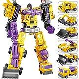 LUSTAR Transformers Deluxe Guerrero Mech, Figura de acción 6 in 1 Robot Material de aleación Estudio Juguete Serie Set Niños Muchacho cumpleaños Regalo Edades de 3 y más