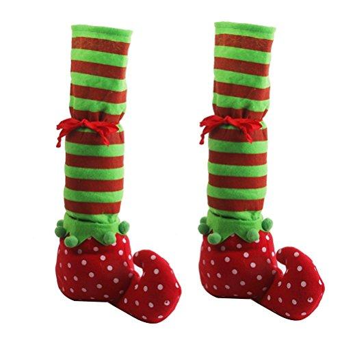 NUOLUX Paar von Weihnachten Tisch Bein umfasst Elf Elfen Füße Schuhe Beine Party Dekorationen