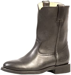 American Country bo-2505-ee–Rugged Boots Covered (Foot)–Men–Leather–Black