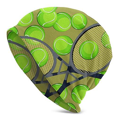 Cappello da berretto da corsa traspirante sportivo con palline da tennis e motivo a racchetta per adulti, donna e uomo