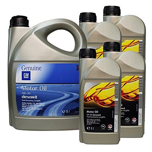 Originele Opel GM Dexos 2 5W-30 motorolie, 9 liter