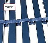 FMP Matratzenmanufaktur Super Stabiler Lattenrost Federlux. Kopf UND FUSSTEIL VERSTELLBAR Querholme 100% BUCHE massiv 10 Härtegradregler, Mittelgurt, EXTREM FLACH, voll montiert 90 x 200 cm - 3