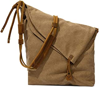 Fashion Gray/Brown Vintage Canvas Bags Shoulder Bags Messenger Bags Art Bags Trends Men and Women Canvas Bags 29 * 11 * 32 (cm) (Color : Brown)